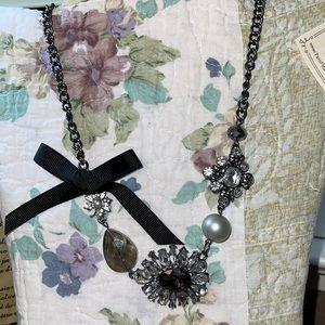 Vintage Style Parisian Crystal Pearl Necklace